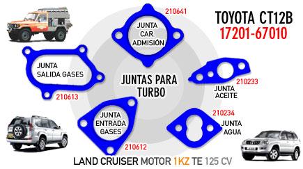 Juntas para turbo TOYOTA CT12B 17201-67010