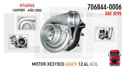 Nuevo DAF XF95 - Motor XE315CO