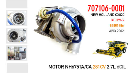 Nueva Cosechadora New Holland CX820 - Motor NH675TA/CA
