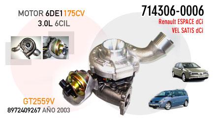 Nueva Espace y Vel Satis dCi  con motor 3.0/V6 de 175CV