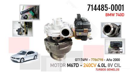 Nuevo BMW 740D  -  Motor M67D  240CV