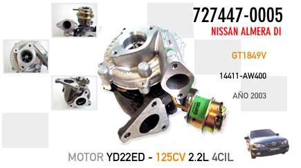 Nuevo Nissan Almera Di - Motor YD22ED 125CV