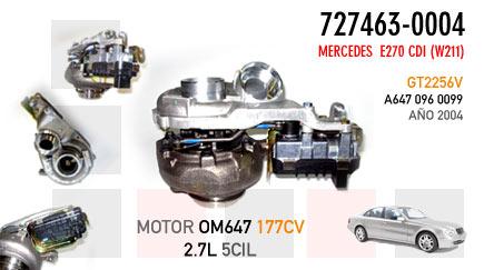 Nuevo E270 CDI (W211) - Motor OM647 177CV