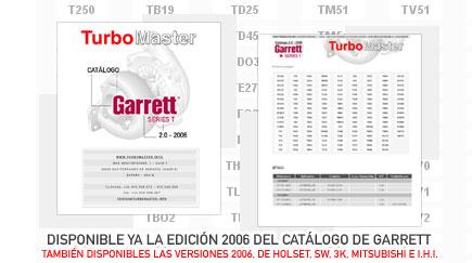 Ahora disponible la edición 2006 del catálogo de Garrett