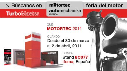TurboMaster en la Feria Internacional de Componentes, Equipos y Servicios para la Automoción MOTORTEC 2011