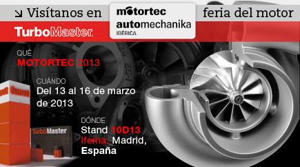 Visitenos en la feria Motortec 2013 en Madrid