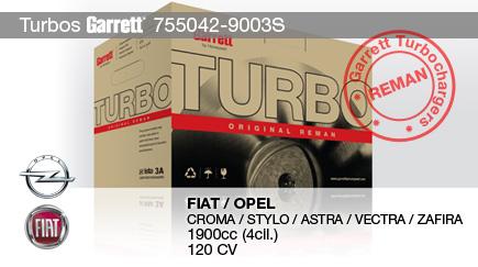 Nuevo Reman 755042-9003S para FIAT y OPEL