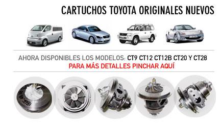 Cartuchos Toyota originales y nuevos