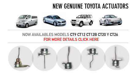 New Genuine Toyota Actuators - Turbomaster - Spain's
