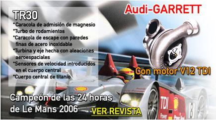 Audi - GARRETT ganadores de las 24 horas de Le Mans