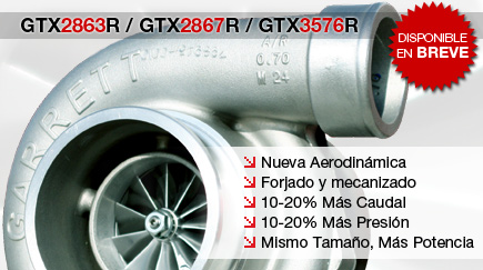 Turbocompresores GTX2863R / GTX2867R / GTX3576R Disponibles en Breve