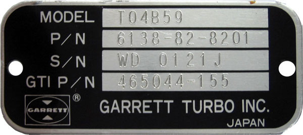 How to identify Garrett turbochargers - Concepts - Turbos